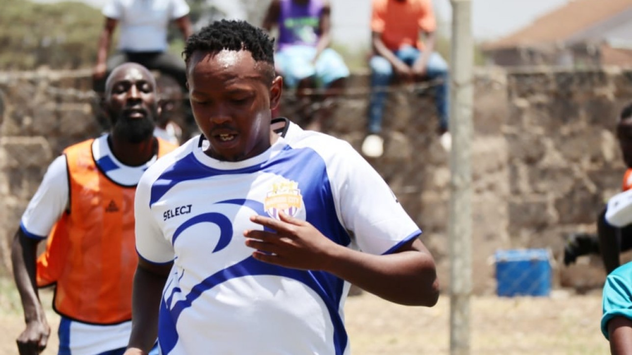David Gateri in a past training with Nairobi City Stars