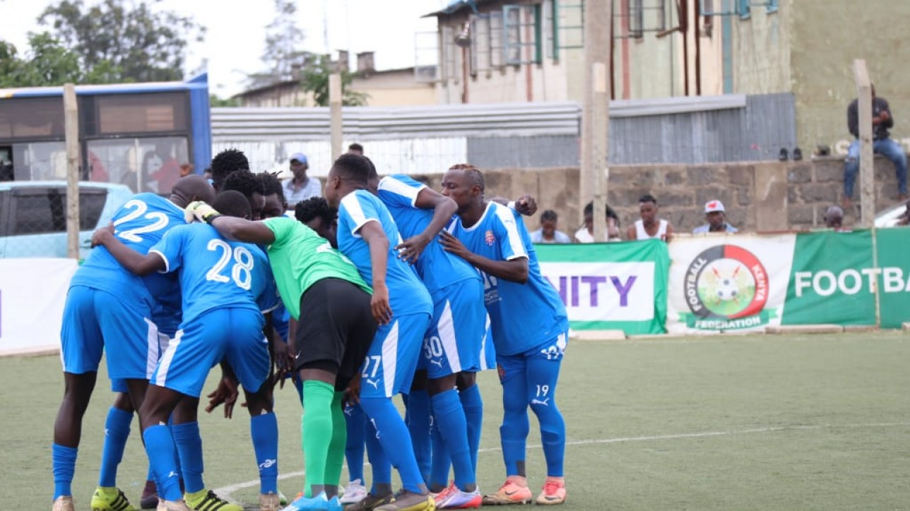 Nairobi City Stars players in a past NSL game in the 2019/20 season