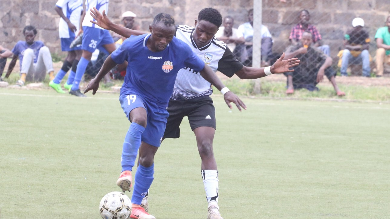 Jimmy Bageya in action against Migori Youth at Camp Toyoyo in Oct 2019