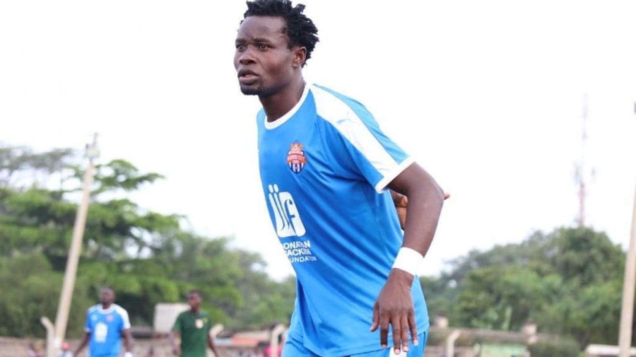 Calvin Masawa in a past game for Nairobi City Stars against Vihiga Bullets in Feb 2020 at Camp Toyoyo