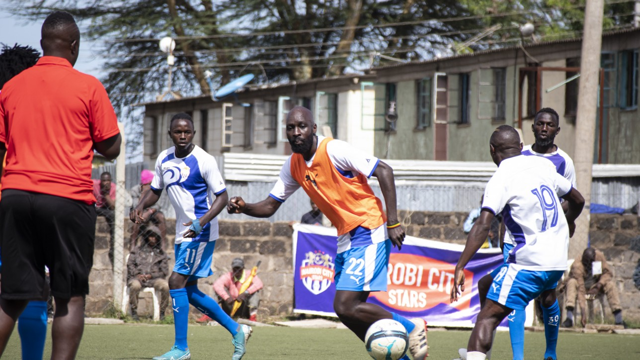 Defender Wycliffe Otieno training ahead of a past game for City Stars