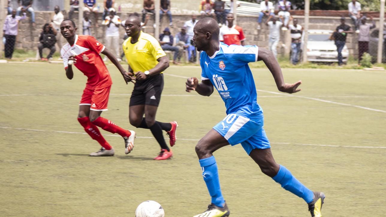 Peter Pinchez Opiyo in a past game for Nairobi City Stars