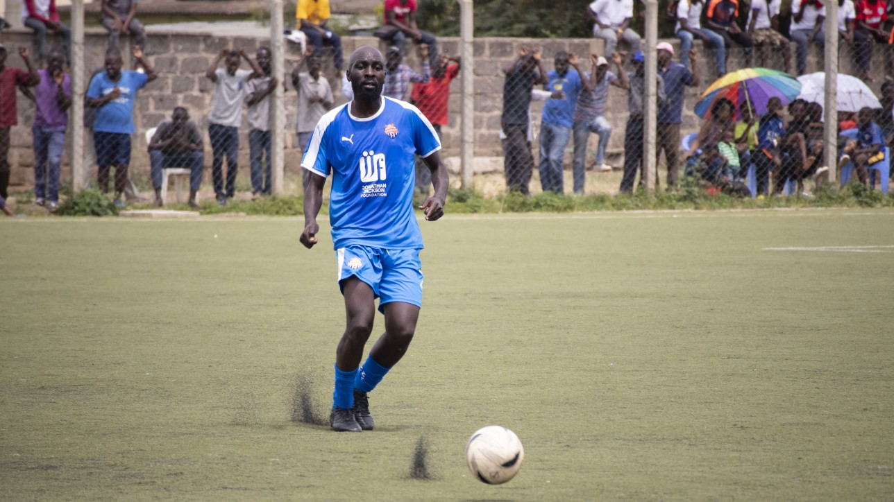 Wycliffe Otieno in a league game at Camp Toyoyo in Jan 2020