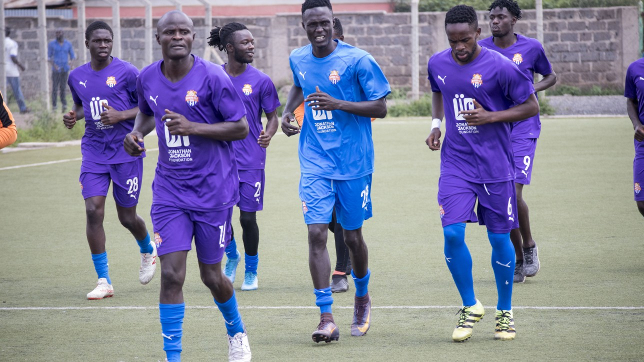 Nairobi City Stars in training at Camp Toyoyo in March 2020