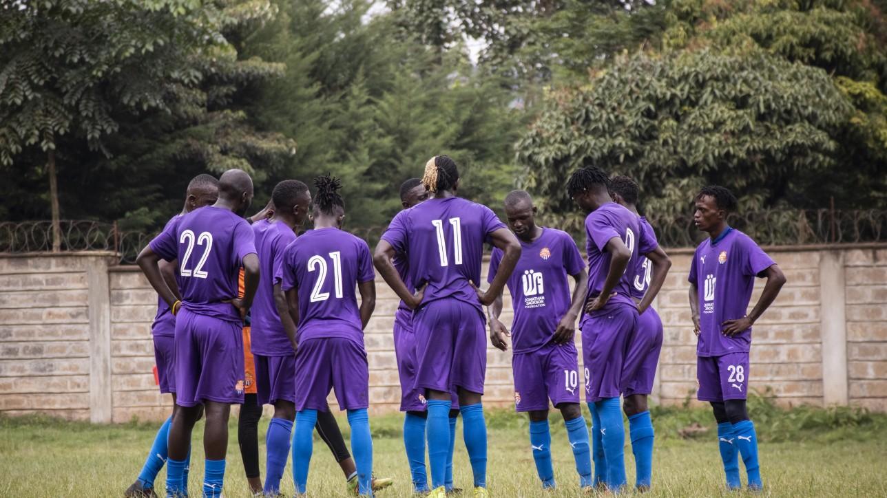 Nairobi City Stars at Dagoretti High during a game against Mt. Kenya United on Sat 14 Nov 2020