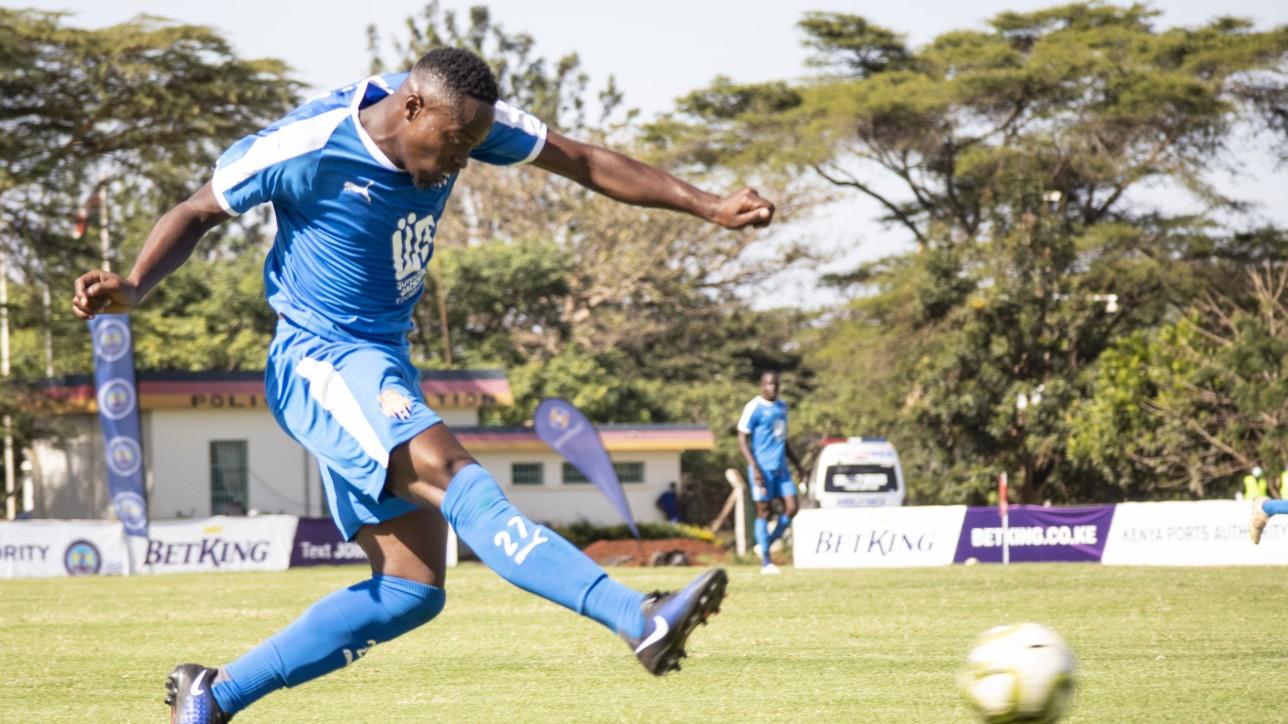 Azizi Okaka at Kasarani during a 3rd round FKF Premier League game against Bandari on Fri 11 Dec 2020. City Stars won 2-0