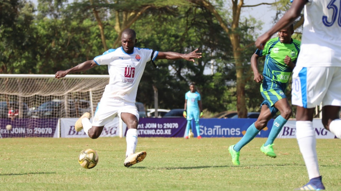 Peter Opiyo in Nairobi City Stars' second Premier League game against KCB at Kasarani on Fri 4 Dec 2020. KCB won it 1-0