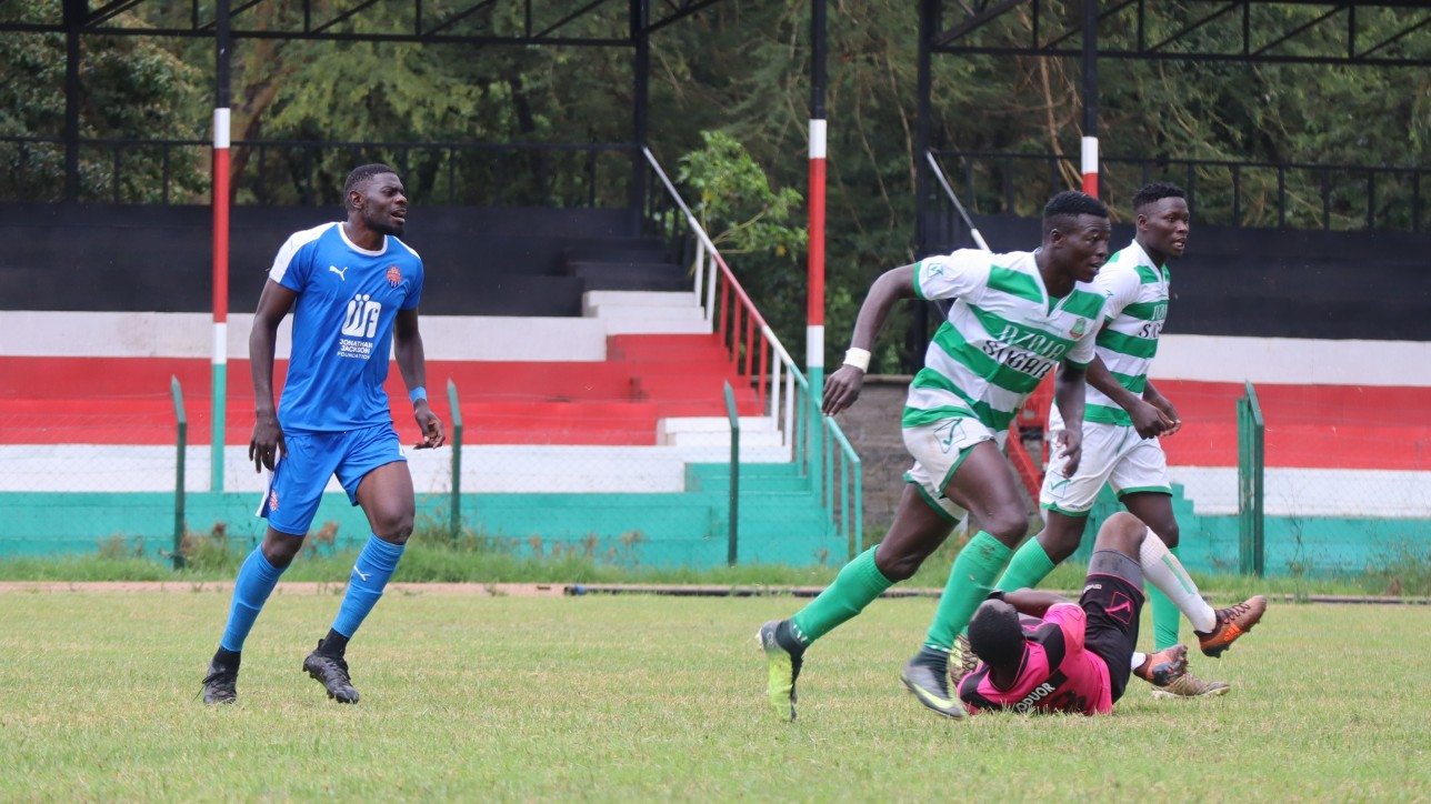 Salim 'Shitu' Abdalla looks on in Nairobi City Stars Premier League opener against Nzoia Sugar FC on Sun 29 Nov 2020. City Stars won 2-0. Shitu was named MVP for Simba wa Nairobi