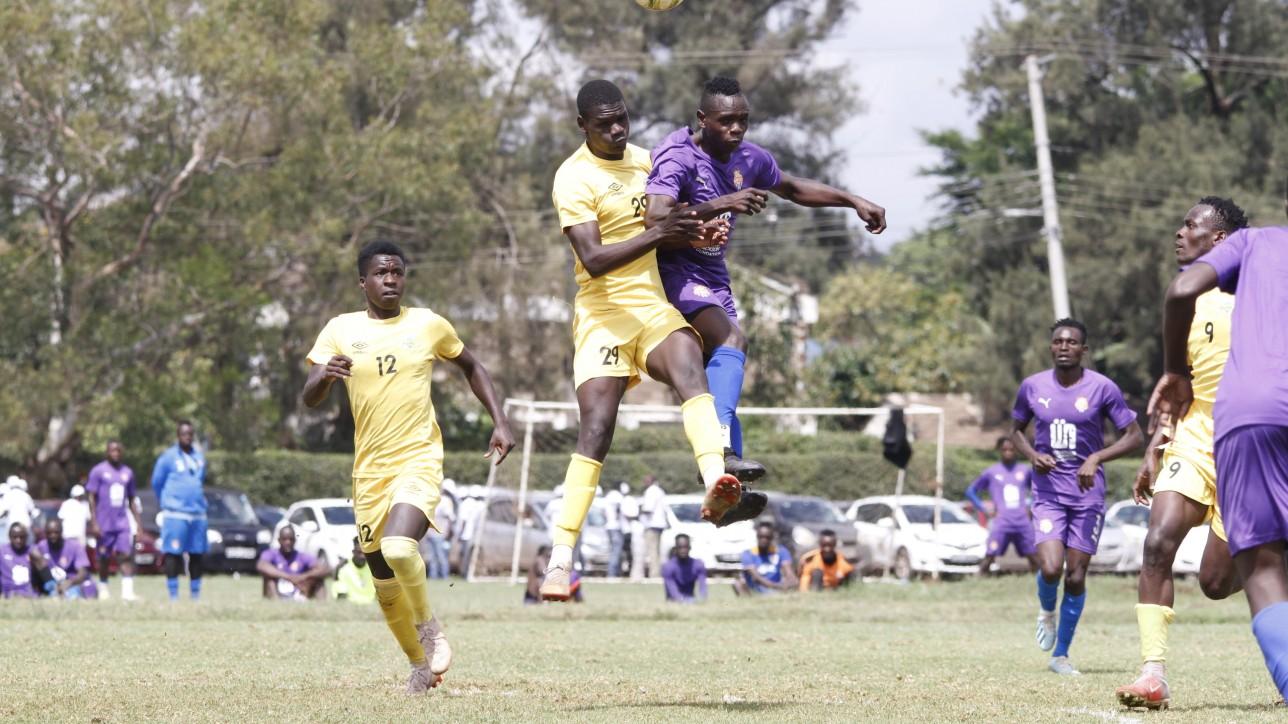 Midfielder Elvis Noor Ojiambo in a friendly game against KAribangi Sharks at Utalii grounds on Sat 30 Oct 2020. It ended 1-1