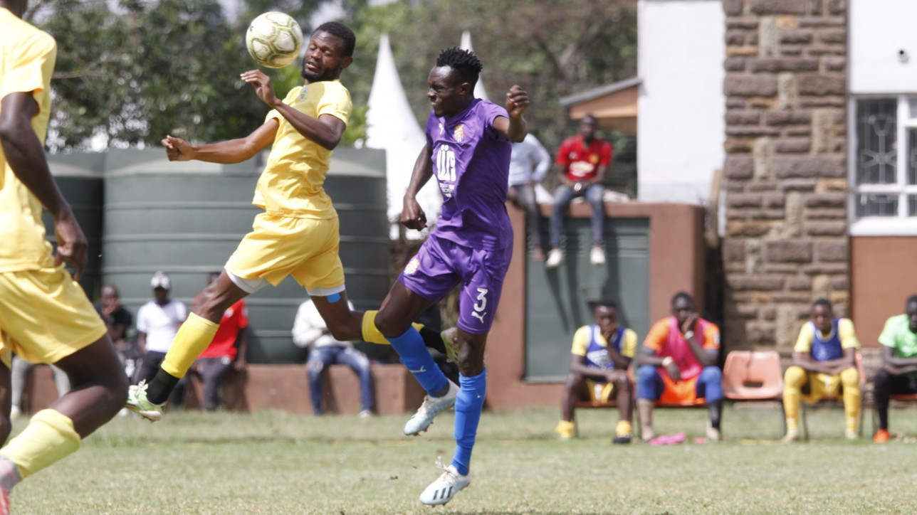 Midfielder Charles Çhale'Otieno in a friendly game against KAribangi Sharks at Utalii grounds on Sat 30 Oct 2020. It ended 1-1