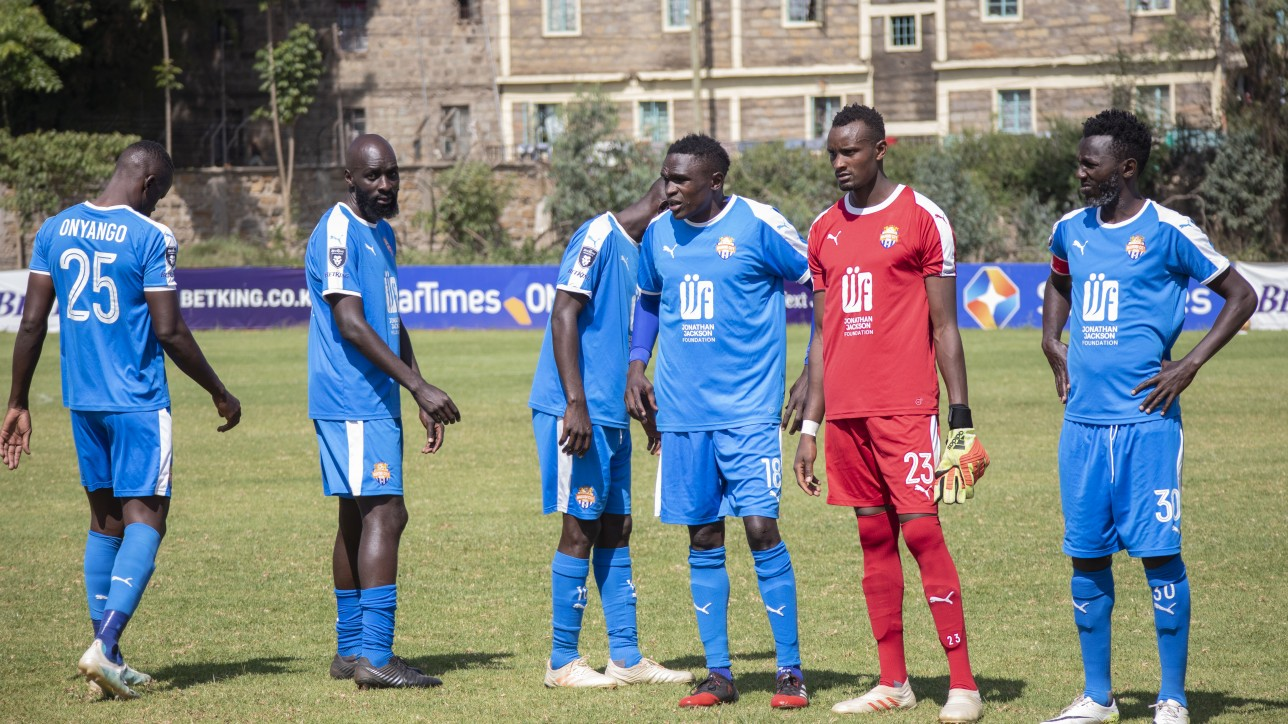 Nairobi City Stars ahead of a past premier league game in the 2020/21 season