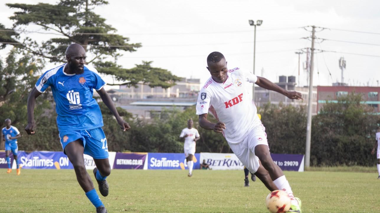 Wycliffe Otieno in action in a Premier League round 8 tie against Ulinzi Stars on Sat 16 Jan 2021. It ended 1-1