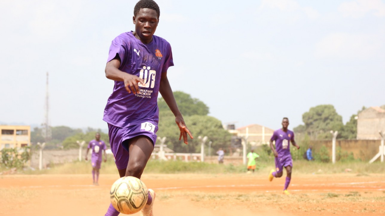 Kevin 'Chumsy' Okumu in action during a round 64 Betway Cup clash against Mutomo Tigers at Kitui Stadium on Sat 13 Feb 2021. He had an assist as City Stars won the duel 4-1