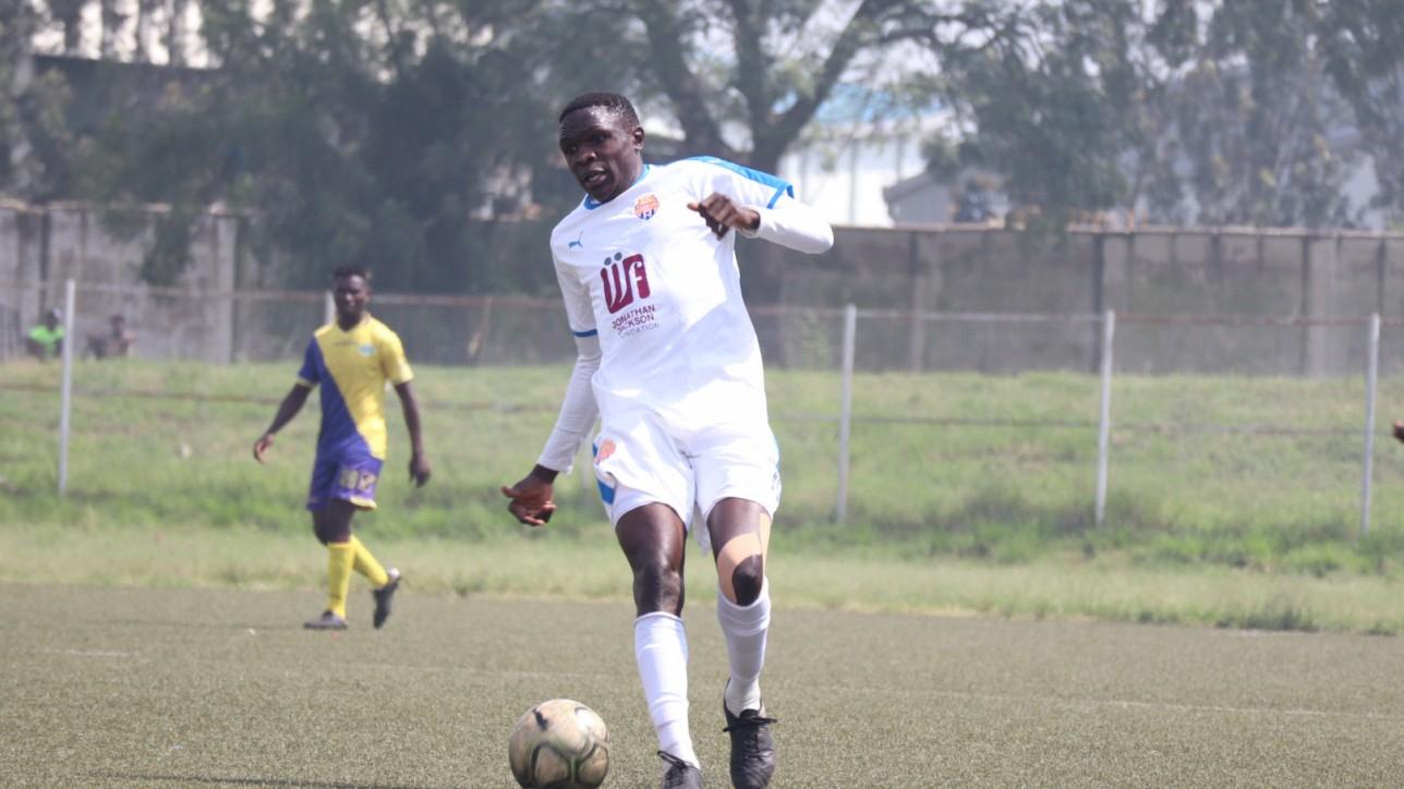 Spoiler Sven Yiday during a the Western Stima game at Moi Stadium, Kisumu on Wednesday 23 February 2021 during a match day 13 Kenyan Premier League tie. Simba wa Nairobi won the game 2-0