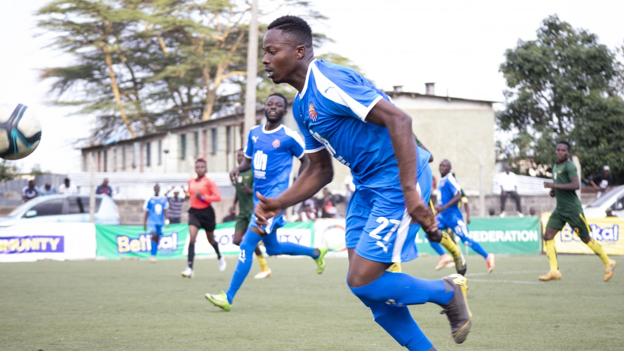 Azizi Okaka on the run in a past Premier League game for Nairobi City Stars
