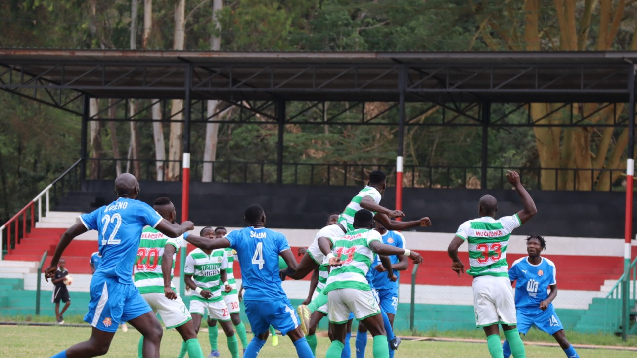 Nairobi City Stars vs Nzoia United on Sun 29 Nov 2020 at Narok Stadium in the 2020/21 FKF Premier League season opener. City Stars won 2-0 with goals from Anthony Kimani and Oliver Maloba