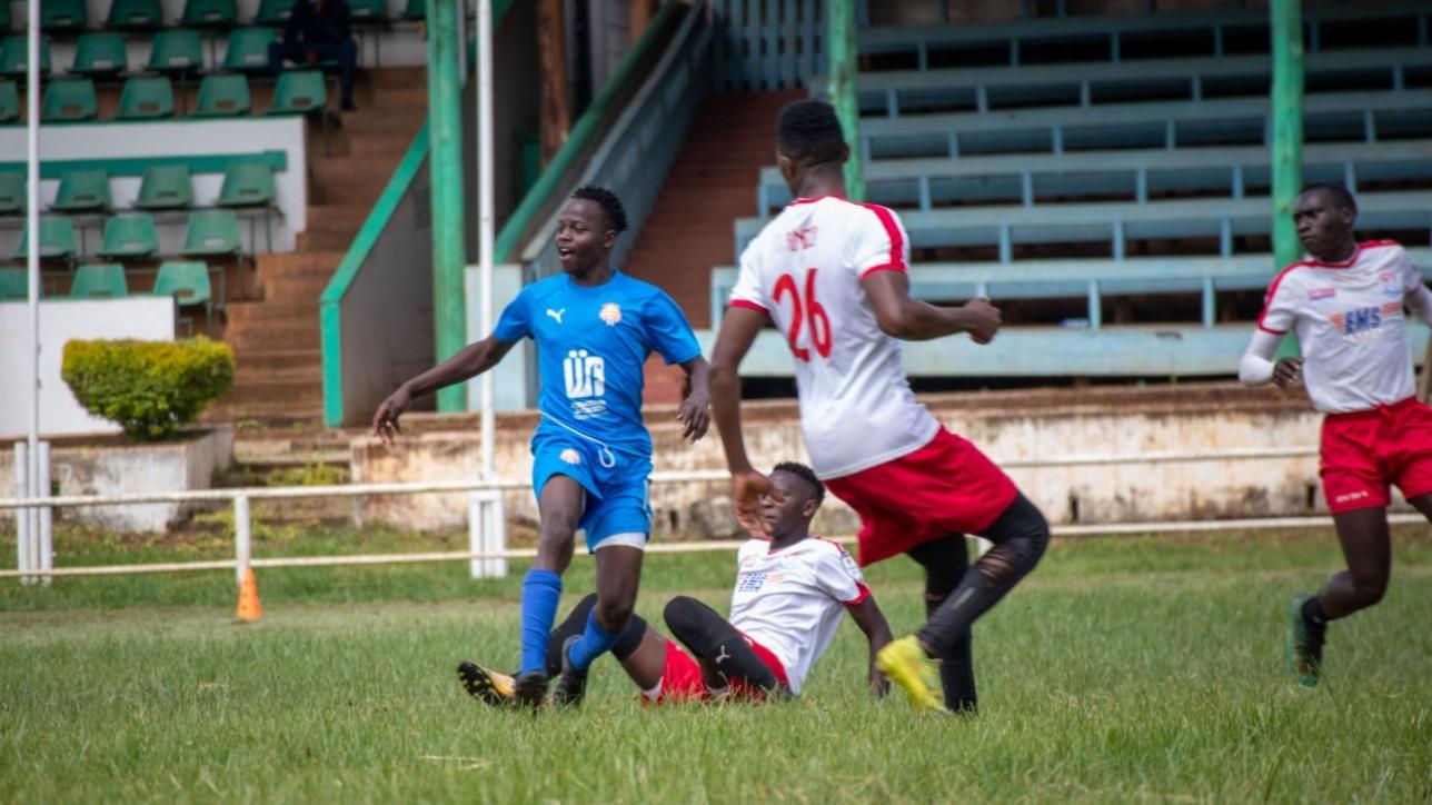 Rowland Makati in a past friendly with Nairobi City Stars against Posta Rangers at the Jamhuri Park
