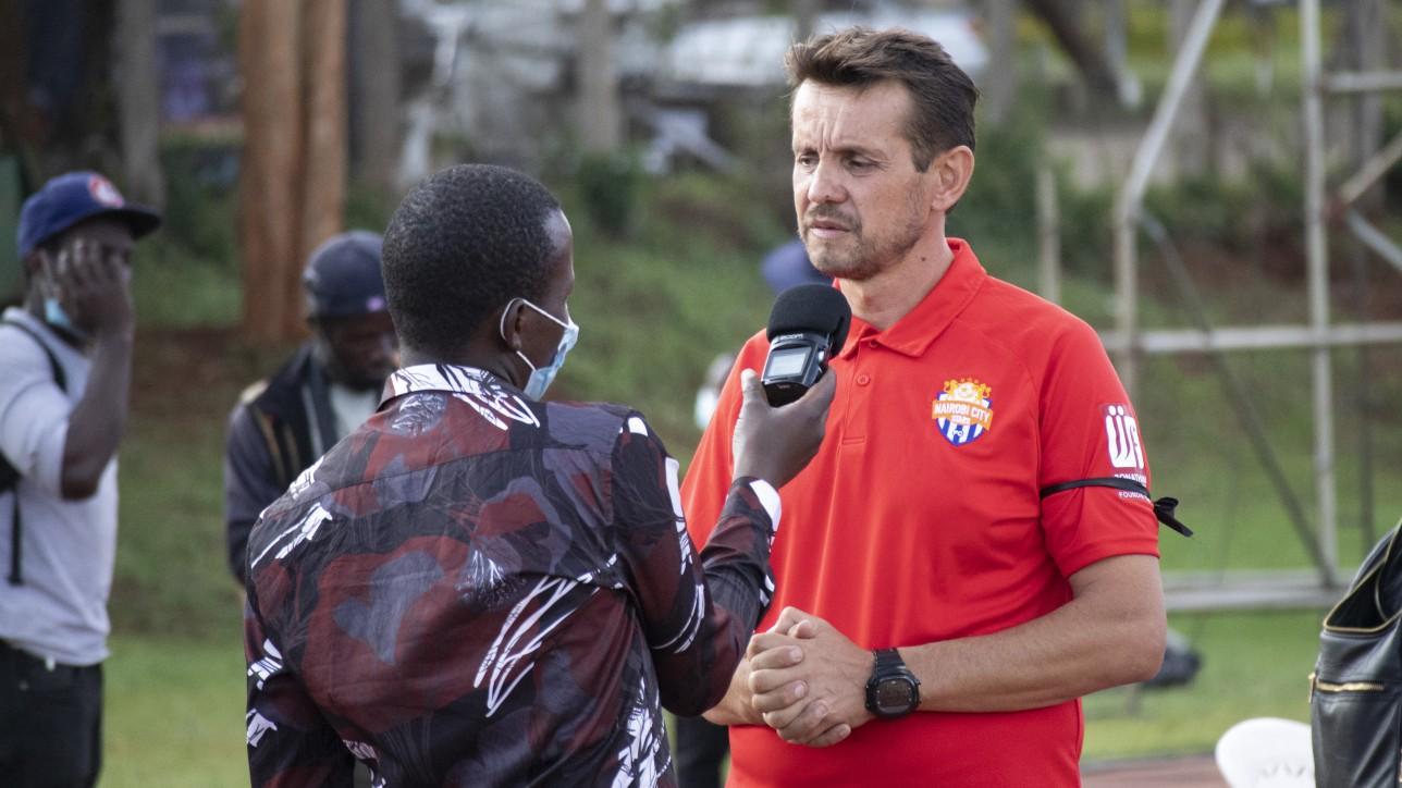 Nairobi City Stars head coach Sanjin Alagic in a past interview