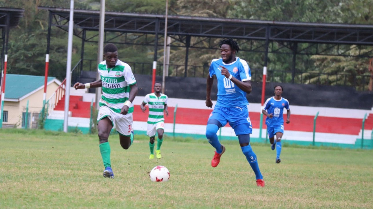 Nairobi City Stars winger Vincent 'Jamaica' Otieno in a game vs Nzoia United on Sun 29 Nov 2020 at Narok Stadium in the 2020/21 FKF Premier League season opener. City Stars won 2-0 with goals from Anthony Kimani and Oliver Maloba