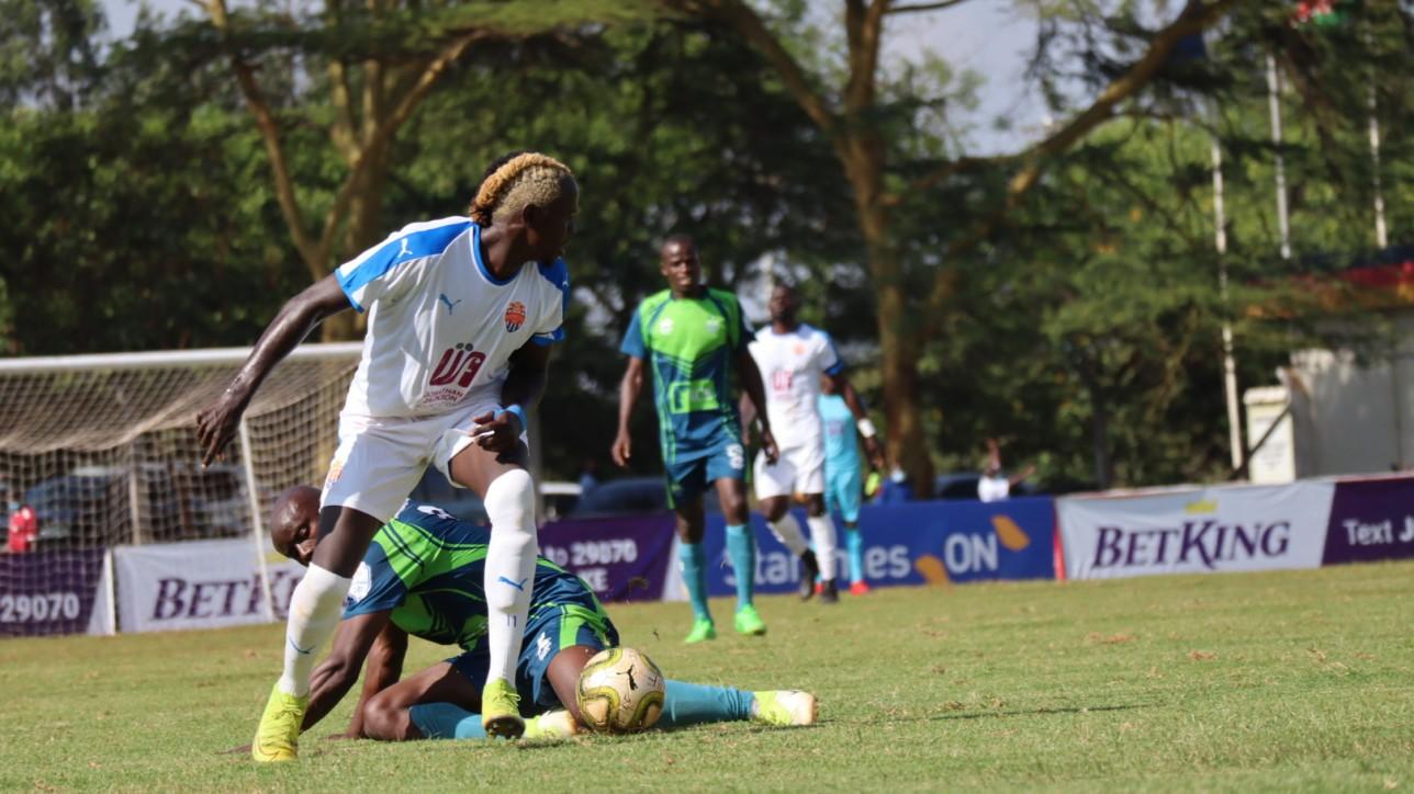 Davis Agesa in Nairobi City Stars' second Premier League game against KCB at Kasarani on Fri 4 Dec 2020. KCB won it 1-0