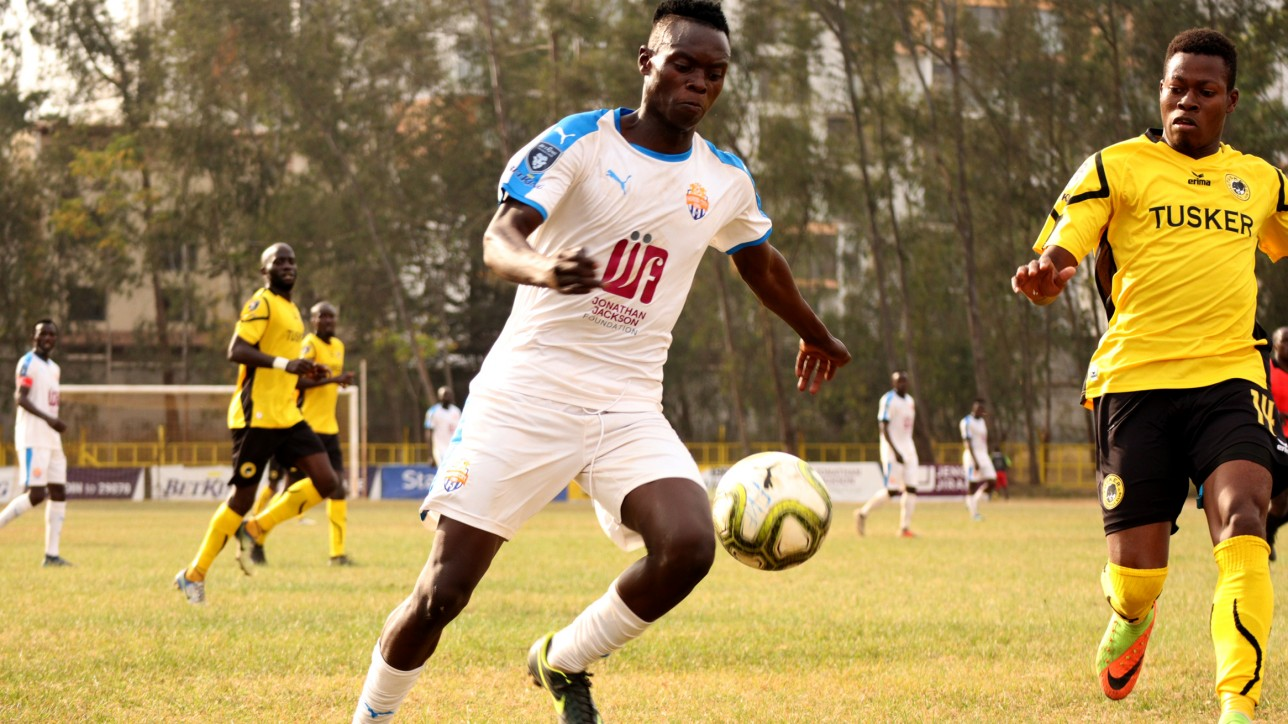 Attacking midfielder Timothy 'Babu' Ouma   in action for Nairobi City Stars during a 1-0 win over Tusker on Fri 30 July 2021 in Ruaraka. He provided the all important assist