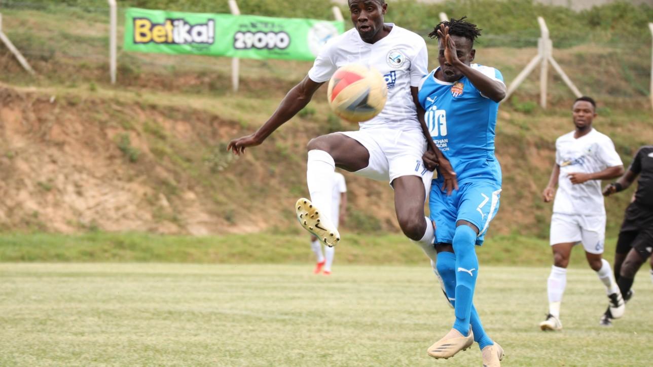 Nairobi City Stars winger Rodgers Okumu takes on a Sofapaka player during the 2021-22 FKF Premier League opener on Sun 26 Sept 2021 in Wundayi. Sofapaka won the game 3-1