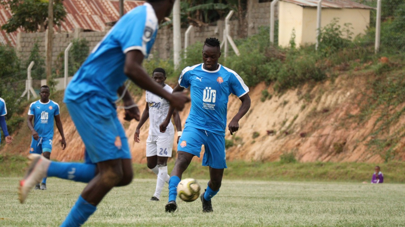 Timothy Ouma at Wundanyi Stadium on Sun 26 Sept 2021 in the opening game of the 2021-22 FKF Premier League season. He scored his debut topflight goal as City  Stars lost the game 3-1