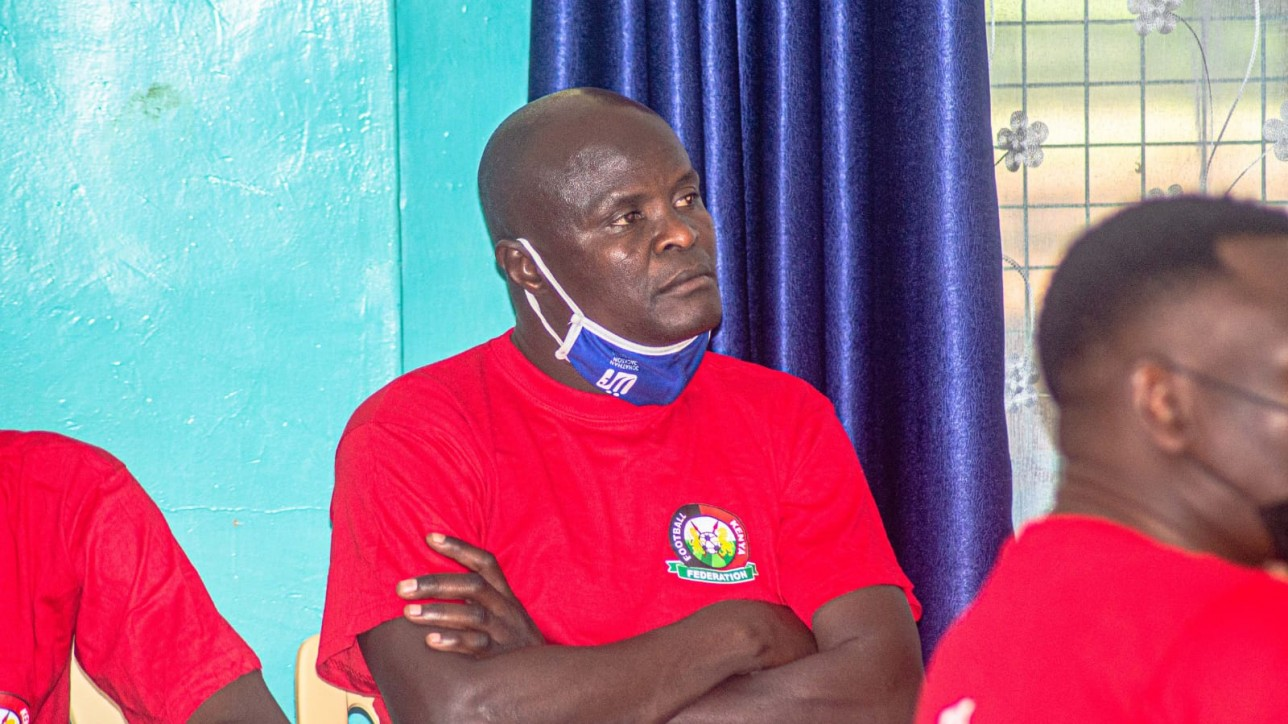 An attentive Noah Abich during a month-long CAF 'C' Diploma course that kicked off in Kisumu on Mon 13 Sep 2021